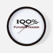 100 Percent Futures Trader Wall Clock