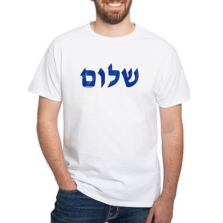 Shalom White T-Shirt