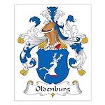 Oldenburg Family Crest Small Poster