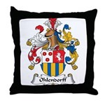 Ohlendorff Family Crest Throw Pillow
