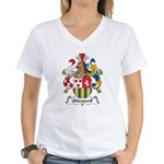 Ohlendorff Family Crest Women's V-Neck T-Shirt