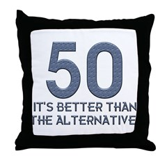 50th Gift Ideas, 50 Throw Pillow