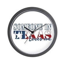 Someone in Texas Wall Clock