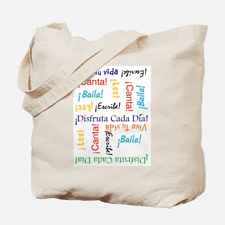 Vive tu vida Tote Bag