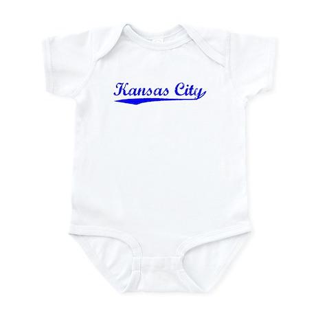 Vintage Kansas City (Blue) Infant Bodysuit
