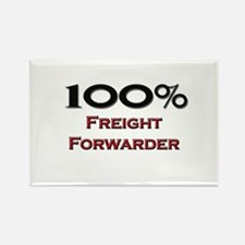 100 Percent Freight Forwarder Rectangle Magnet