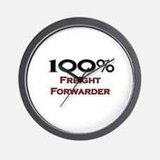 100 Percent Freight Forwarder Wall Clock