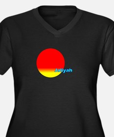Jaliyah Women's Plus Size V-Neck Dark T-Shirt