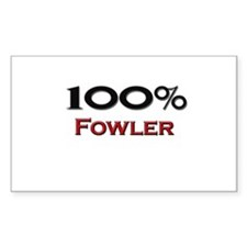 100 Percent Fowler Rectangle Decal