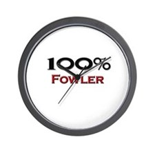 100 Percent Fowler Wall Clock