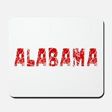 Alabama Faded (Red) Mousepad