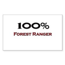 100 Percent Forest Ranger Rectangle Decal