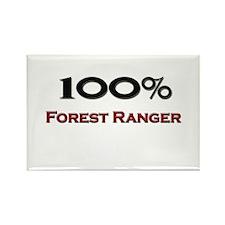 100 Percent Forest Ranger Rectangle Magnet