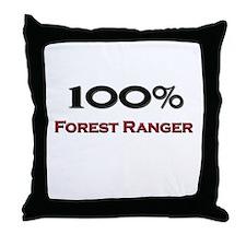 100 Percent Forest Ranger Throw Pillow