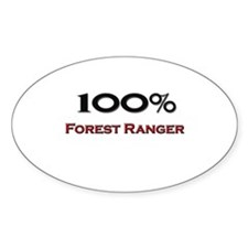 100 Percent Forest Ranger Oval Decal