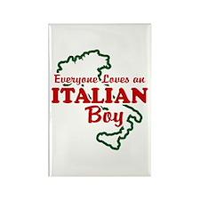 Everyone Loves an Italian Boy Rectangle Magnet