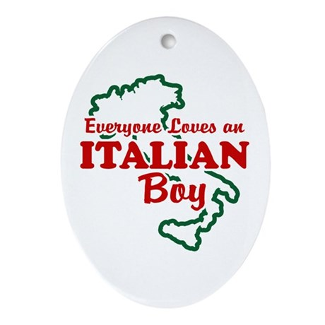 Everyone Loves an Italian Boy Oval Ornament