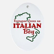 Everyone Loves an Italian Boy Oval Ornament