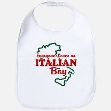 Everyone Loves an Italian Boy Bib
