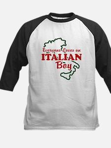 Everyone Loves an Italian Boy Kids Baseball Jersey
