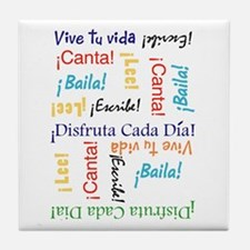 Cute Espanol Tile Coaster
