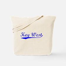 Vintage Key West (Blue) Tote Bag