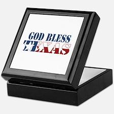 God Bless Texas Keepsake Box