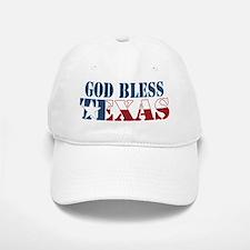 God Bless Texas Baseball Baseball Cap