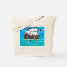 Shiver Me Timbers Pembroke Welsh Corgi Tote Bag