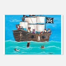 Shiver Me Timbers Pembroke Welsh Corgi Postcards (