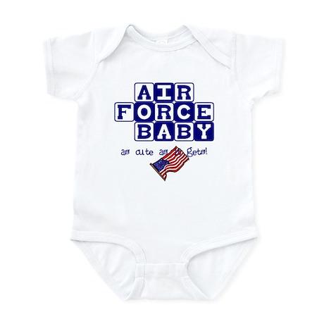 AIR FORCE BABY, AS CUTE AS IT Infant Bodysuit