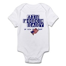 AIR FORCE BABY, AS CUTE AS IT Infant Bodysuit