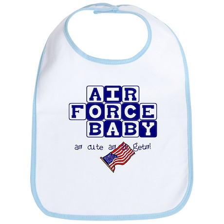 AIR FORCE BABY, AS CUTE AS IT Bib
