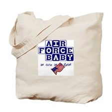 AIR FORCE BABY, AS CUTE AS IT Tote Bag