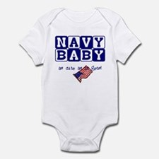 NAVY BABY, AS CUTE AS IT GETS Infant Bodysuit