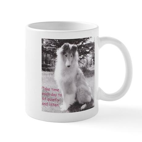 Sit quietly Collie Mug