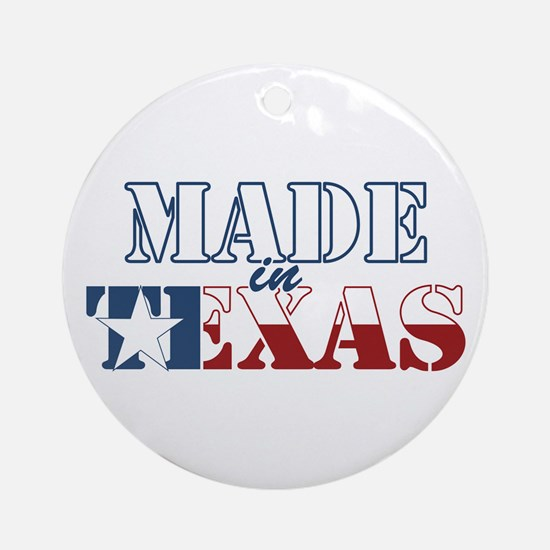 Made in Texas Ornament (Round)