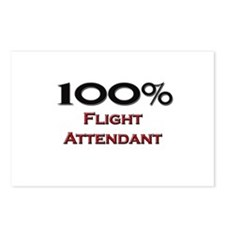 100 Percent Flight Attendant Postcards (Package of