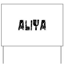 Aliya Faded (Black) Yard Sign