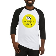 allergic to dairy Baseball Jersey