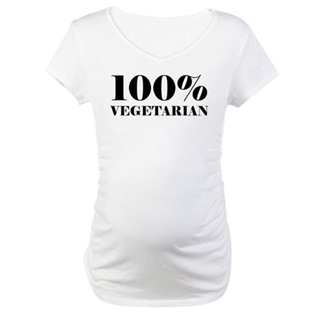 100% Vegetarian Maternity T-Shirt