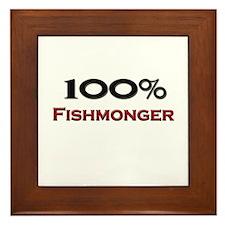100 Percent Fishmonger Framed Tile
