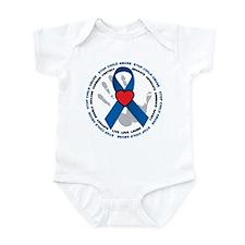 Stop Child Abuse Ribbon Infant Bodysuit