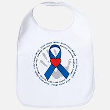 Stop Child Abuse Ribbon Bib