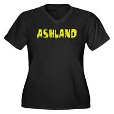 Ashland Faded (Gold) Women's Plus Size V-Neck Dark