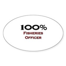100 Percent Fisheries Officer Oval Decal