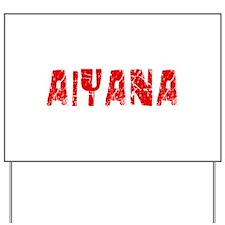 Aiyana Faded (Red) Yard Sign