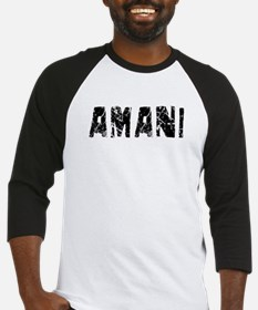 Amani Faded (Black) Baseball Jersey