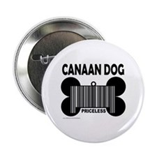 "CANAAN DOG PRICELESS 2.25"" Button"