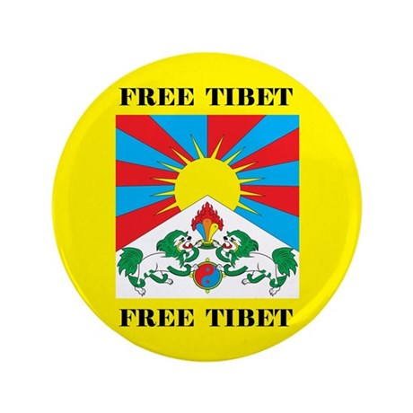 "Free Tibet 3.5"" Button"